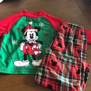 Disney Mickey Mouse Christmas pajama set 3T